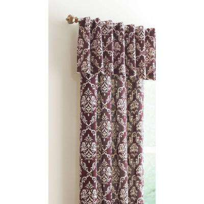 15 in. L Polyester and Cotton Valance in Plum