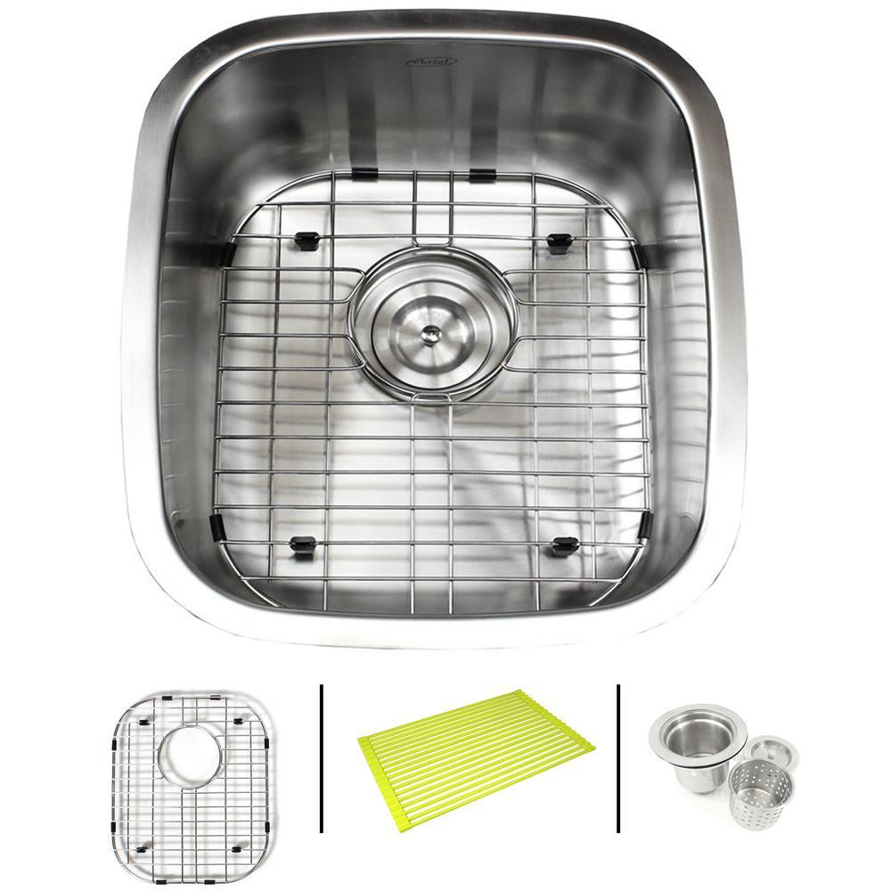 Undermount 18-Gauge Stainless Steel 15-7/8 in. x 18 in. x 8 in. Single Bowl Kitchen / Bar Sink