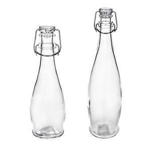 16a45358fa91 Amici Home Milk Street 13 and 25 oz. Clear Glass Bottle (2-Pack ...