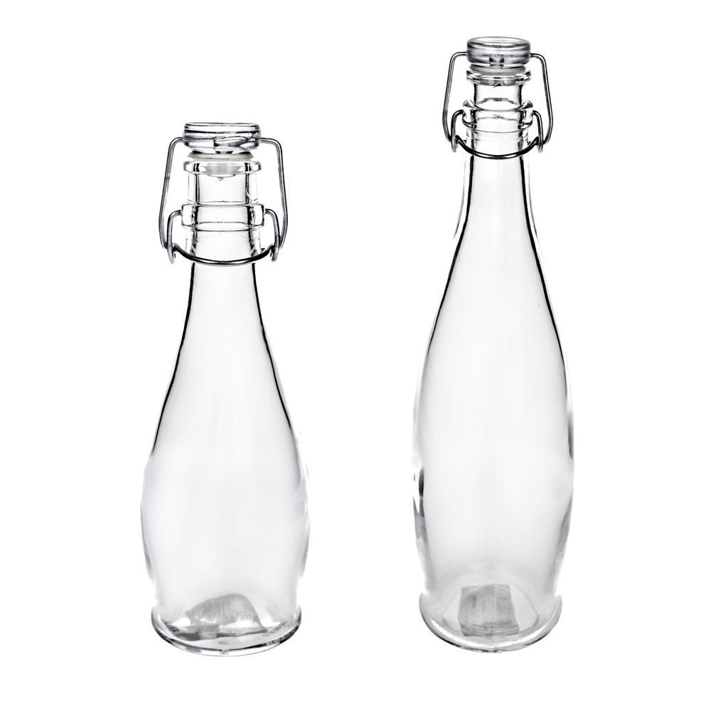0c87c40adc06 Titan Lighting 13 in. Glass Decorative Bottle in Antique Mercury ...