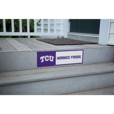 NCAA TCU Horned Frogs Outdoor Step Graphic