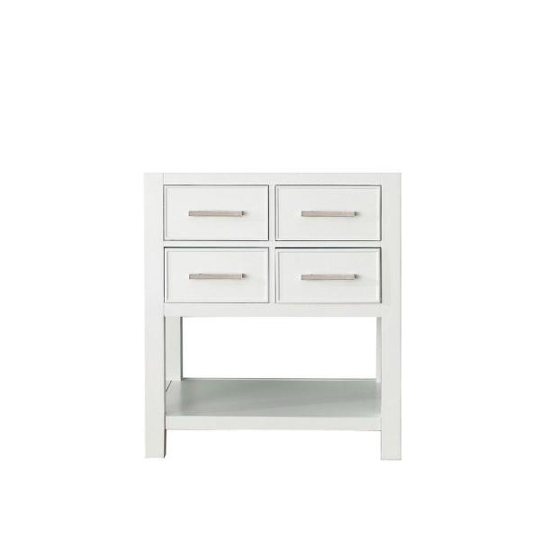 Brooks 30 in. Vanity Cabinet Only in White