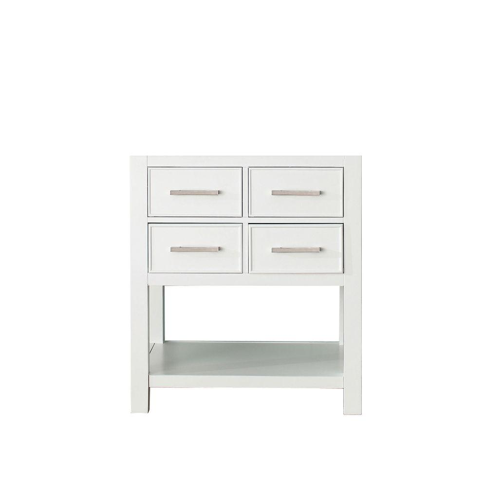 avanity brooks 30 in. vanity cabinet only in white-brooks-v30-wt 30 Vanity Cabinet
