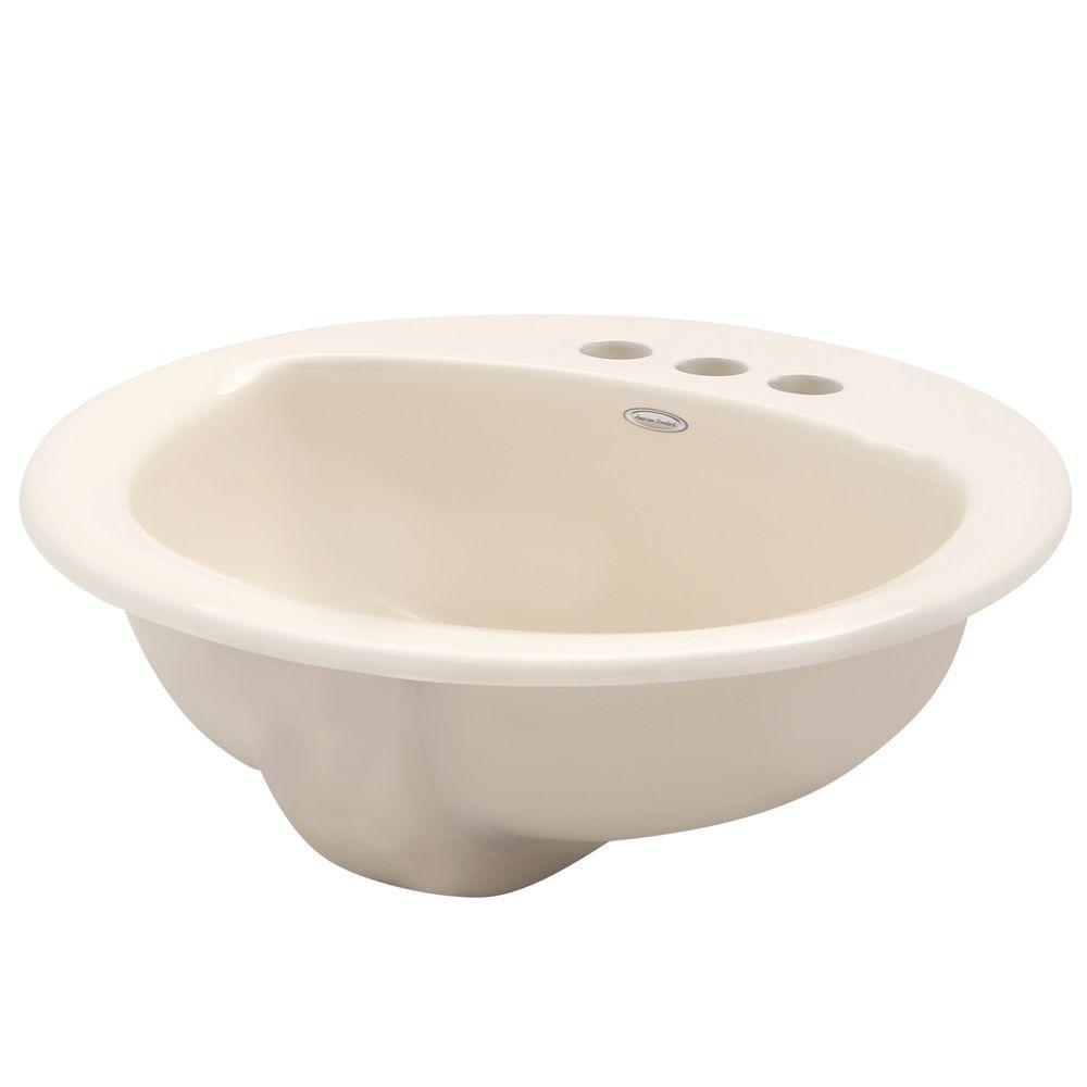 Round Ceramic Drop In Bathroom Sinks Bathroom Sinks The Home Depot
