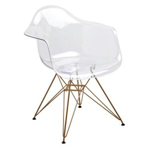 Astounding Design Guild Banks Clear Arm Side Chair With Gold Legs Pabps2019 Chair Design Images Pabps2019Com