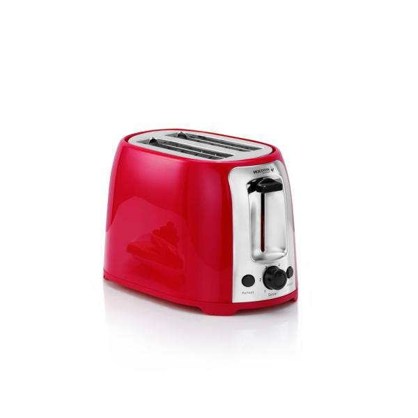 800W Red 2-Slice Toaster