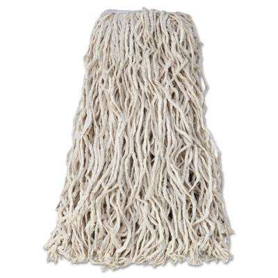 Economy 24 oz. Cut-End Cotton Wet Mop Head with 1 in. Band in White (12/Carton)