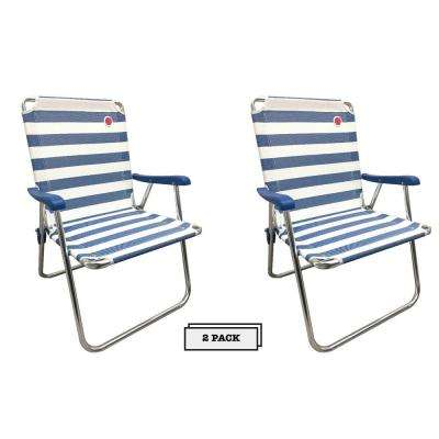 New Classic Blue Folding Camp/Lawn Chair (2-Pack)
