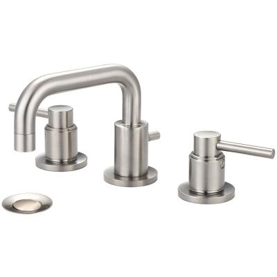 Motegi 8 in. Widespread 2-Handle Right Angle Spout Bathroom Faucet in Brushed Nickel with Drain Assembly