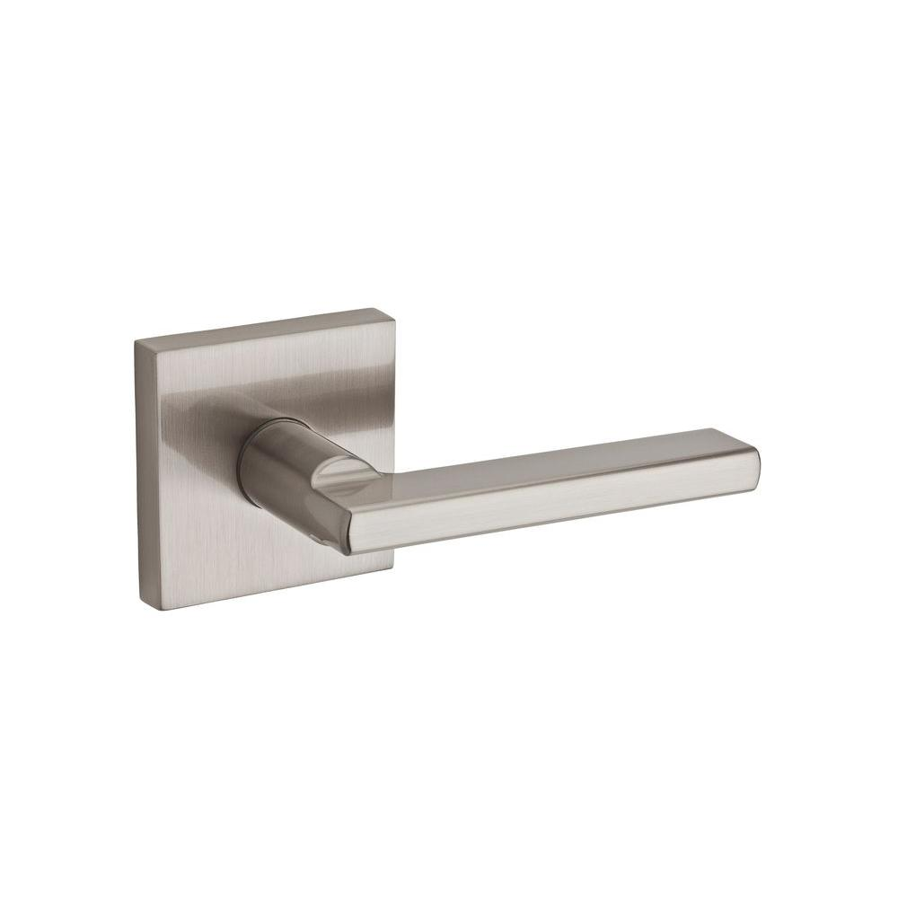 Kwikset Halifax Square Satin Nickel Passage Hall/Closet Door Lever  sc 1 st  The Home Depot & Kwikset Halifax Square Satin Nickel Passage Hall/Closet Door Lever ...