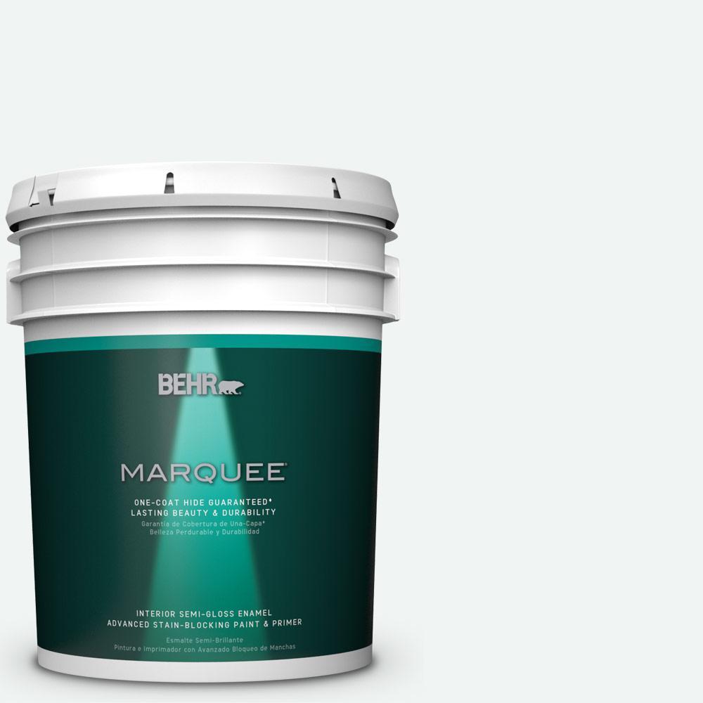 5 gal. #T13-14 Heavy Sugar Semi-Gloss Enamel Interior Paint