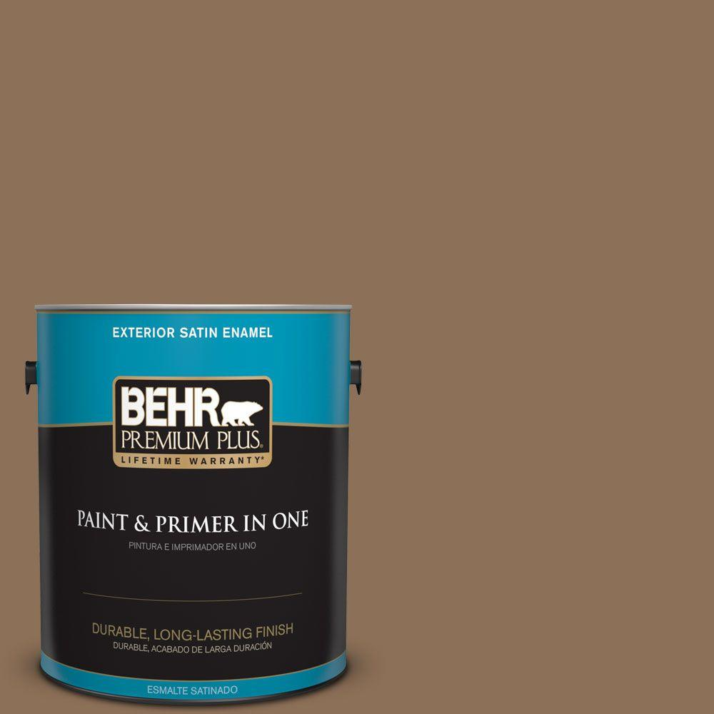 1-gal. #280F-6 Sweet Georgia Brown Satin Enamel Exterior Paint