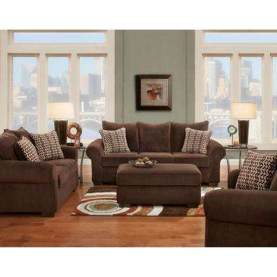 Brandywine 2-Piece Chocolate Sofa and Loveseat Set