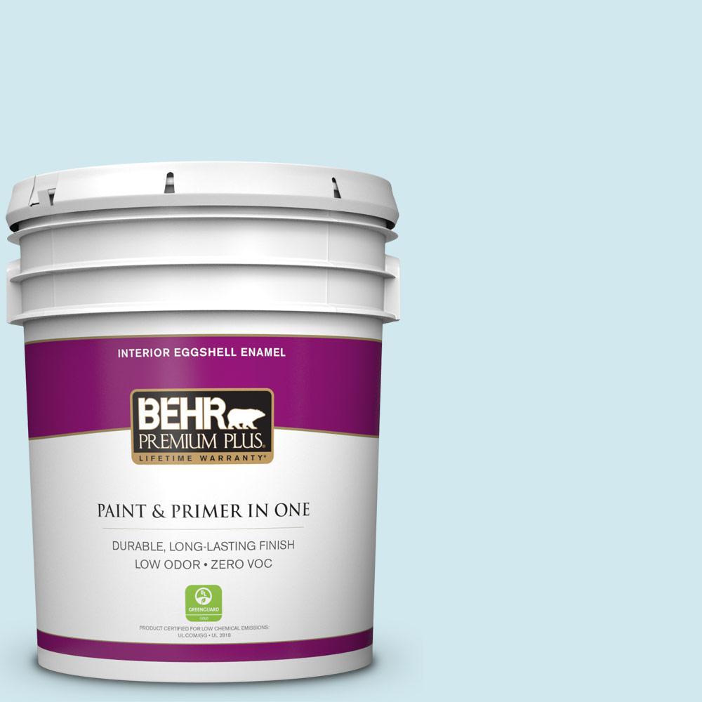 BEHR Premium Plus 5-gal. #540C-1 Mineral Water Zero VOC Eggshell Enamel Interior Paint