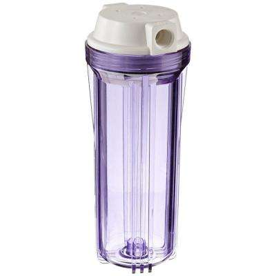 Clear 10 in. x 2.5 in. Filter Housing