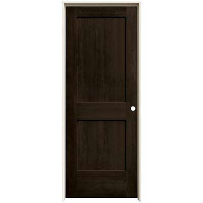 30 in. x 80 in. Monroe Espresso Stain Left-Hand Solid Core Molded Composite MDF Single Prehung Interior Door