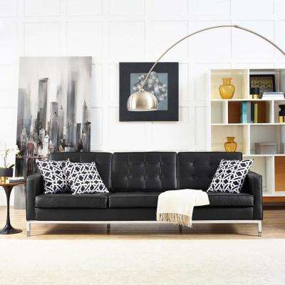 Loose Pillow Black Faux Leather Sofas Loveseats Living