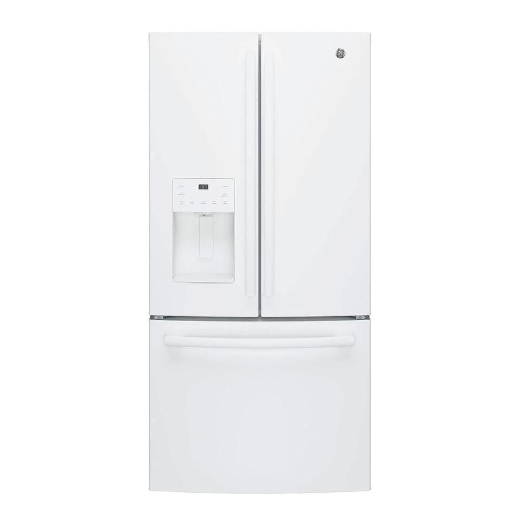 French Door Refrigerator In White GFE24JGKWW   The Home Depot