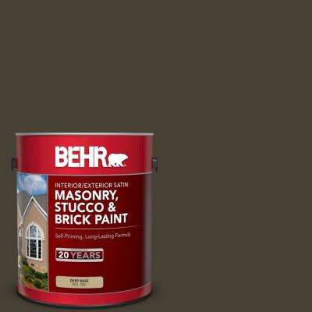 Behr 1 Gal Ppu5 20 Sweet Molasses Satin Interior Exterior Masonry Stucco And Brick Paint 28201 The Home Depot