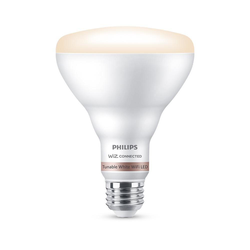 Philips Tunable White BR30 LED 65W Equivalent Dimmable Smart Wi-Fi Wiz Connected Wireless Light Bulb