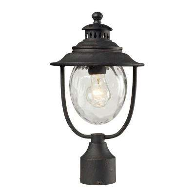Searsport 1-Light Outdoor Weathered Charcoal Post Light