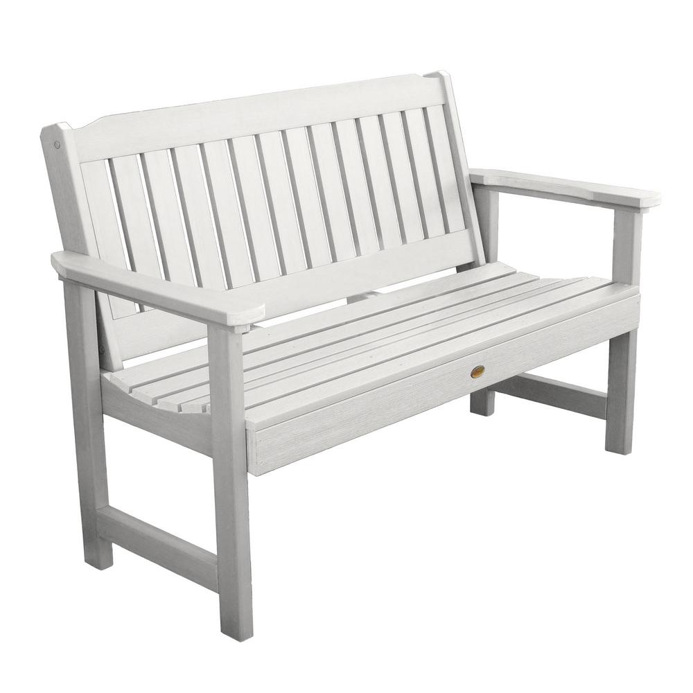 Stupendous Highwood Lehigh 60 In 2 Person White Recycled Plastic Outdoor Garden Bench Ncnpc Chair Design For Home Ncnpcorg