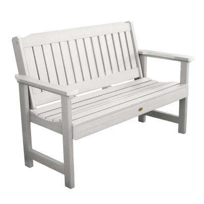 Lehigh 60 in. 2-Person White Recycled Plastic Outdoor Garden Bench