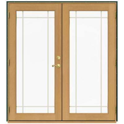 71.5 in. x 79.5 in. W-2500 Hartford Green Right-Hand Inswing French Wood Patio Door