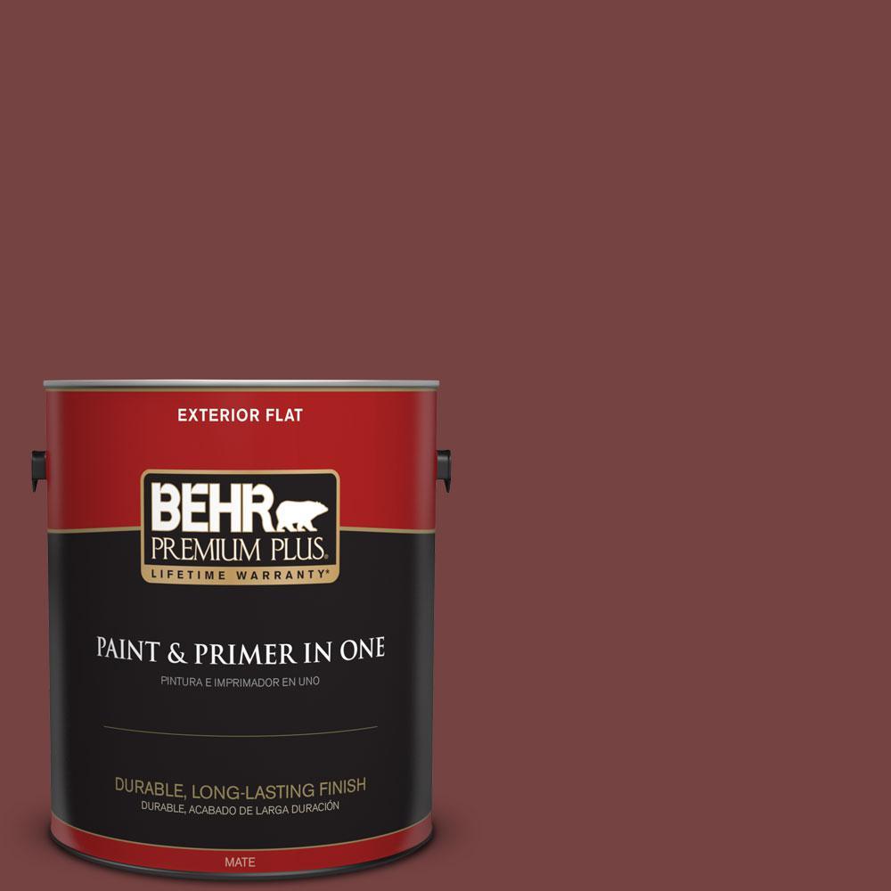 1-gal. #S130-7 Cherry Cola Flat Exterior Paint
