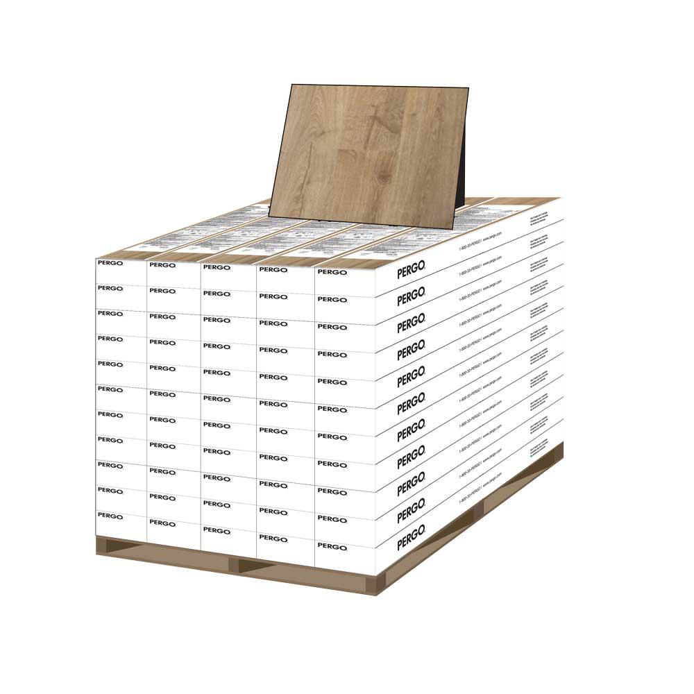 Pergo Outlast+ Vienna Oak 10 mm Thick x 7-1/2 in. W x 47-1/4 in. L Laminate Flooring (1079.65 sq. ft./pallet)