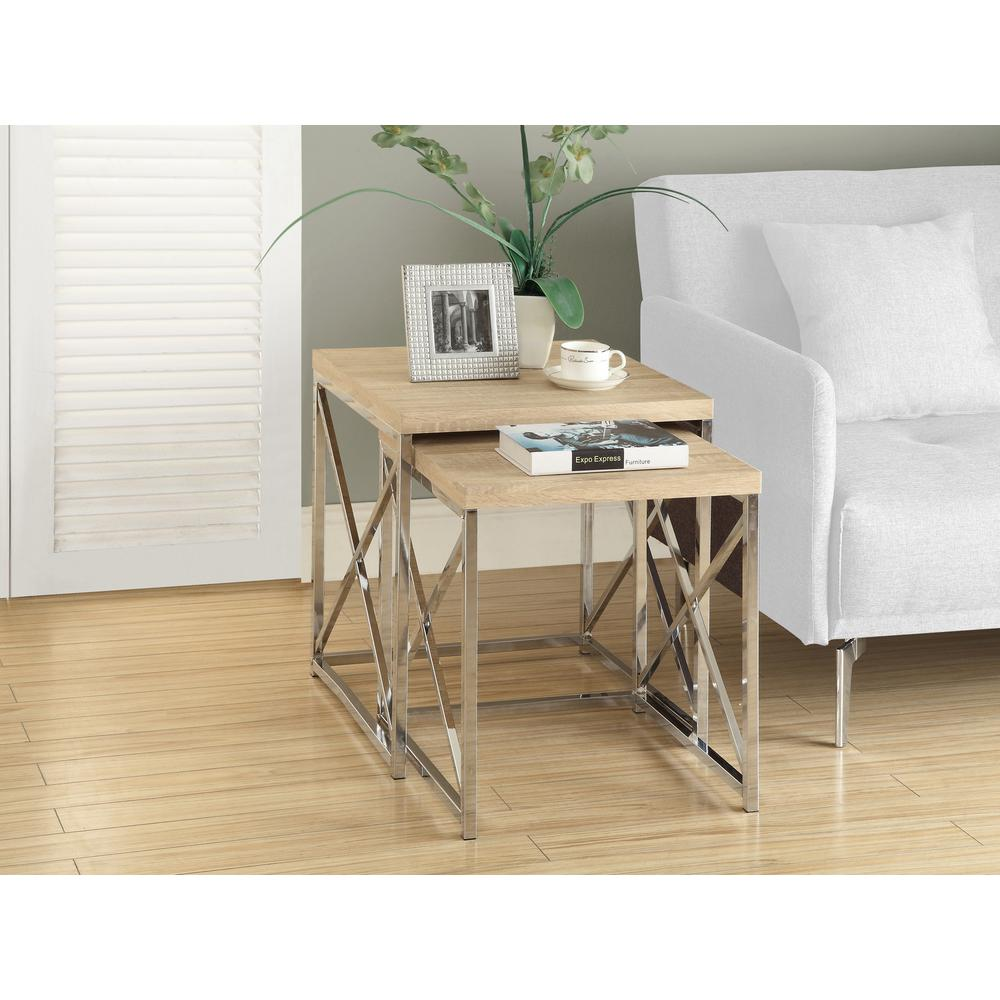 Natural 2-Piece Nesting End Table