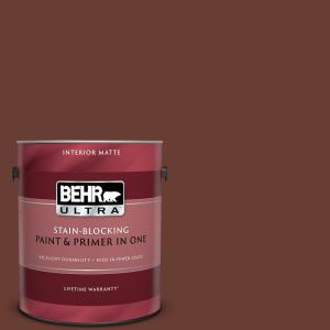 Behr Ultra 1 Gal Ecc 42 3 Deep Cherrywood Matte Interior Paint And Primer In One 175301 The Home Depot