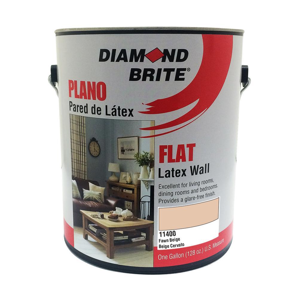 1 gal. Fawn Beige Flat Latex Interior Paint