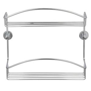 No Drilling Required Draad Rustproof Solid Brass Shower Caddy 12 inch Double Shelf in... by No Drilling Required