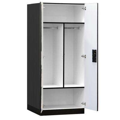 3100 Series 32 in. W x 76 in. H x 24 in. D Wardrobe Designer Wood Storage Cabinet Assembled in Black