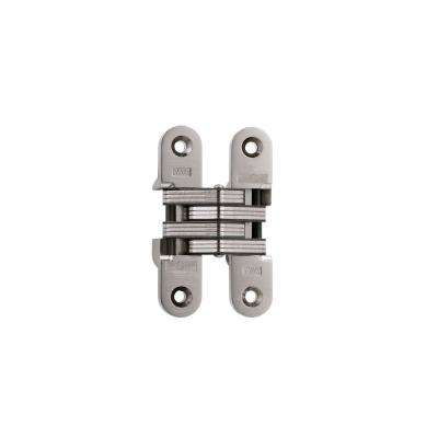 1 in. x 4-5/8 in. Satin Nickel Invisible Hinge with 20-Minute Fire Rated