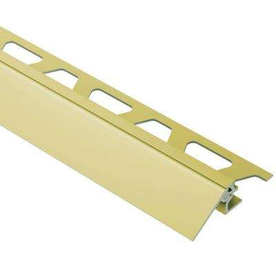 Reno-V Satin Brass Anodized Aluminum 3/4 in. x 8 ft. 2-1/2 in. Metal Reducer Tile Edging Trim