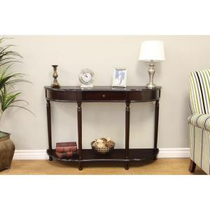 +2. Frenchi Home Furnishing Dark Cherry Storage Console Table