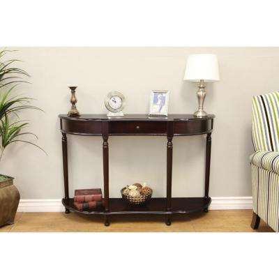 Dark Cherry Storage Console Table