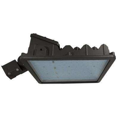262-Watt Bronze Outdoor Integrated LED Area Light Slip Fitter Mount