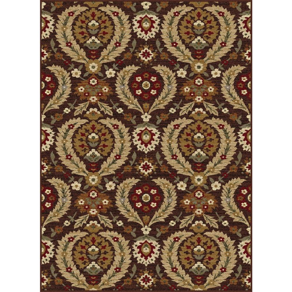 Impressions Brown 5 ft. 3 in. x 7 ft. 3 in. Indoor Area Rug