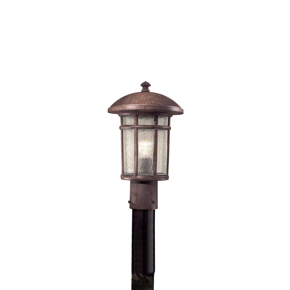 Cranston 1-Light Outdoor Vintage Rust Post Mount