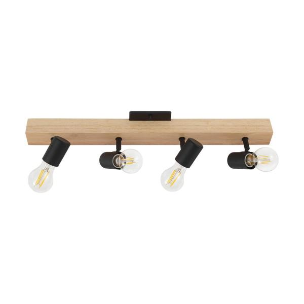 Kingswood 24.80 in. Wood/Black Incandescent Track Lighting Kit