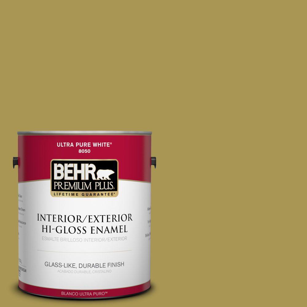 1-gal. #390D-6 Spring Moss Hi-Gloss Enamel Interior/Exterior Paint