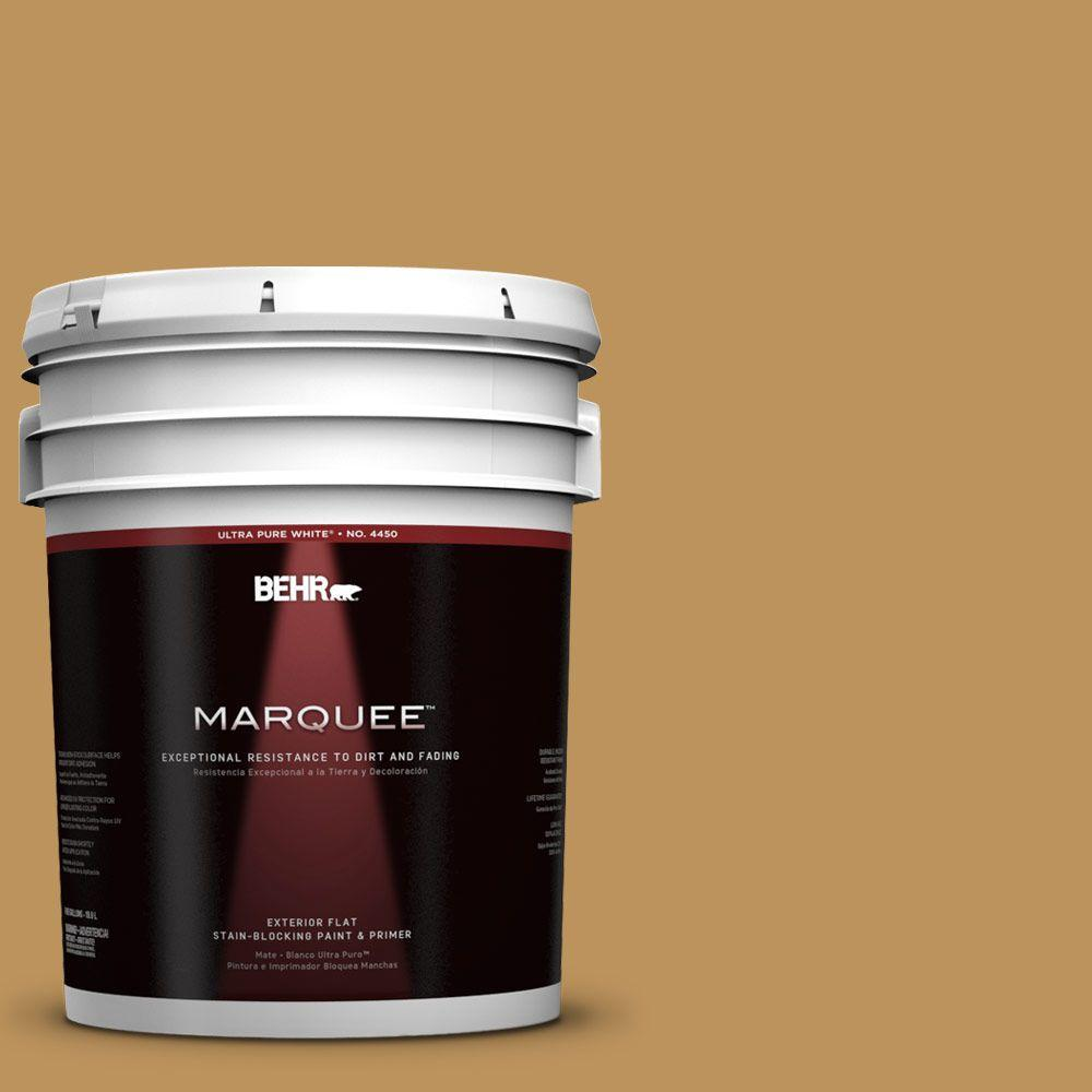 BEHR MARQUEE 5-gal. #UL160-3 Gold Torch Flat Exterior Paint