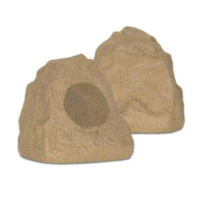 Outdoor Sandstone Rock 2-Speaker Set for Yard Patio Pool