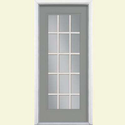 Gray No Panel Front Doors Exterior Doors The Home Depot
