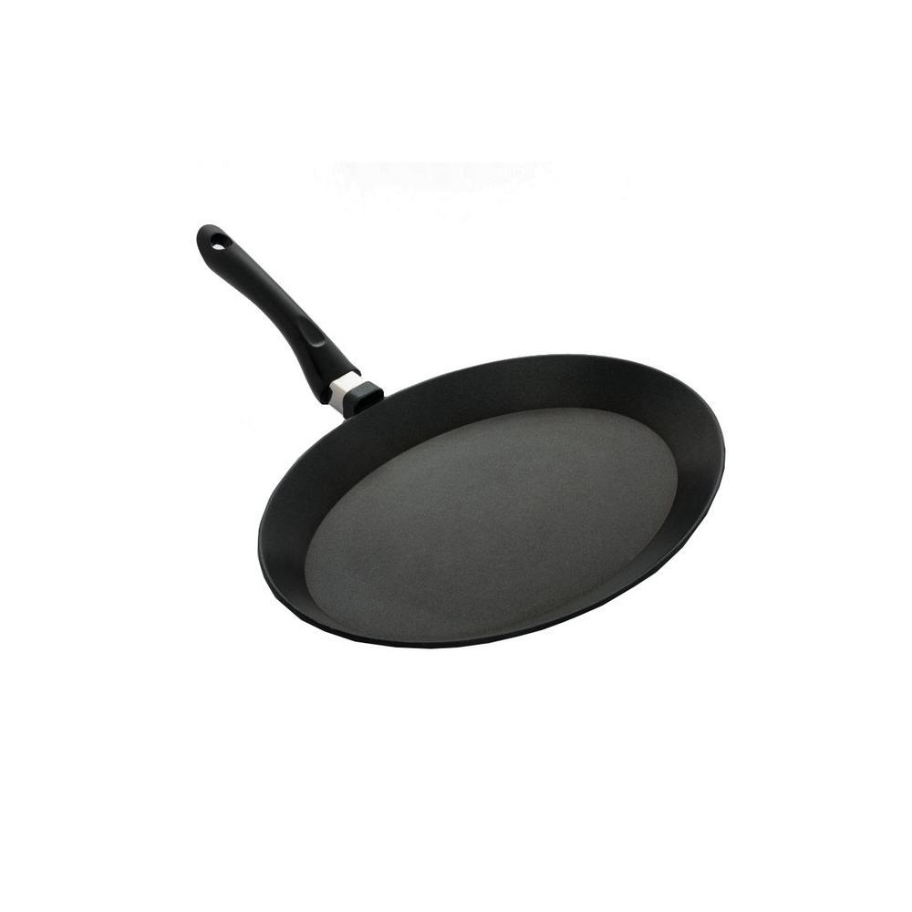 11 in. Cast Aluminum Nonstick Frying Pan in Black