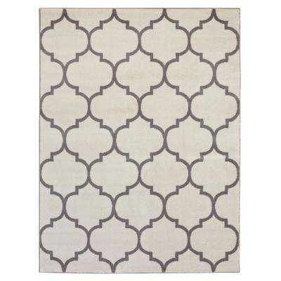 King Collection Moroccan Trellis Cream 8 ft. x 10 ft. Indoor Area Rug