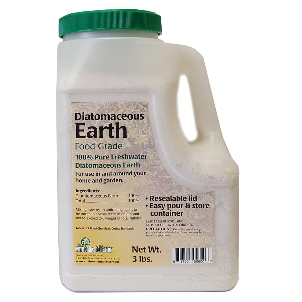 3 lb. 100% Pure Freshwater Diatomaceous Earth Shaker Bottle,